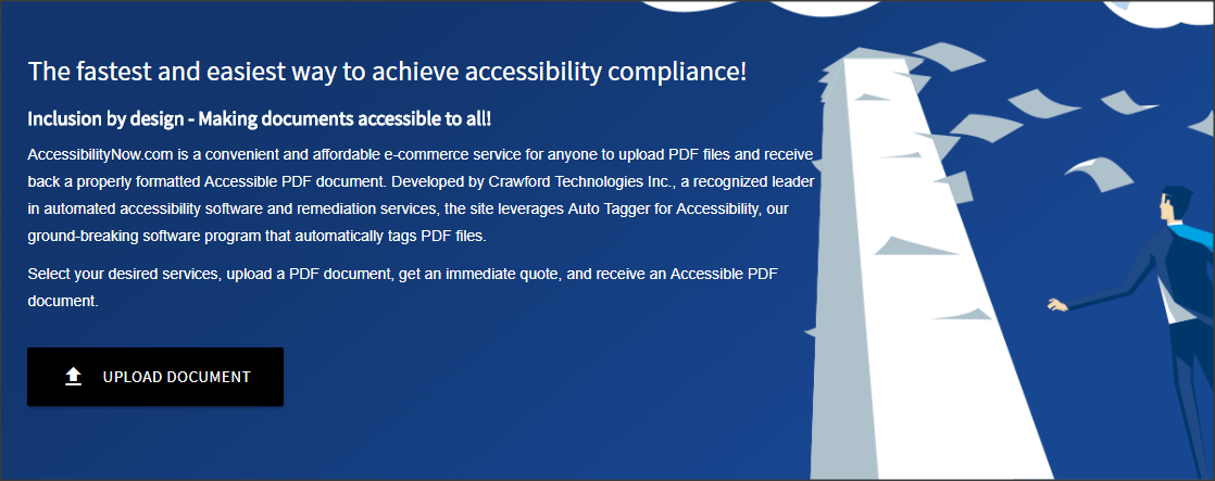 screenshot of accessibilitynow.com home page